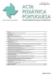Acta Ped Vol 39 N 4:Acta Ped Vol 39 N 4 - Sociedade Portuguesa ...