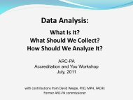 Data Analysis: What Is It? What Specifically Should We Collect - Arc-pa