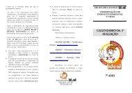 CALENDÁRIO DA 3ª AVALIAÇÃO 7° ANO - Grupo Ideal