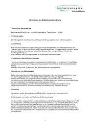 Richtlinien zur Bibliotheksbenutzung