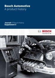 Bosch Automotive A product history - Bosch worldwide