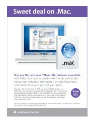 Sweet deal on .Mac. - Apple Store