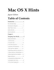 Mac OS X Hints - Apple Store