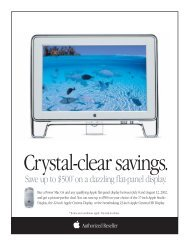 Crystal-clear savings - Apple Store