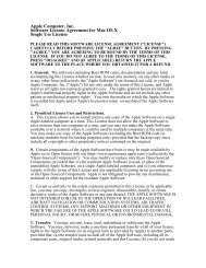 Apple Computer, Inc. Software License Agreement for ... - Apple Store