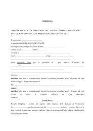 Modulo A - Comune di Firenze