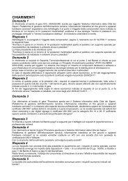 Domanda 1 - Comune di Firenze