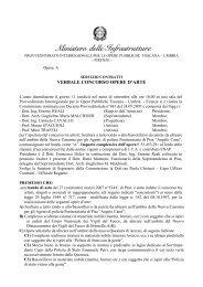 Ministero delle Infrastrutture - Comune di Firenze
