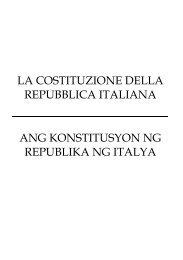 la costituzione della repubblica italiana ang ... - MONDO NUOVO