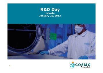 2013 - Cosmo Pharmaceuticals