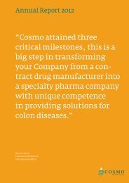 Annual Report 2012 - Cosmo Pharmaceuticals