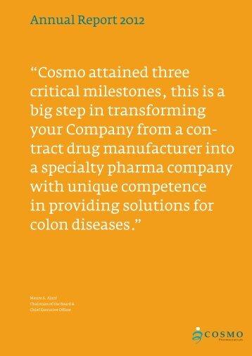 Annual Report 2012 - Cosmo Pharmaceuticals