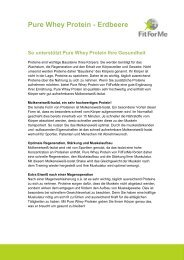 Pure Whey Protein - Erdbeere - FitForMe