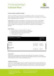 Packungsbeilage: Calcium Plus - FitForMe