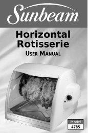Horizontal Rotisserie - Household Appliance Inc.