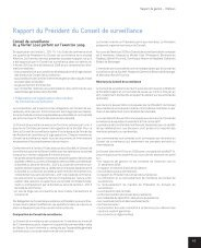 Rapport du Président du Conseil de surveillance - Klemurs