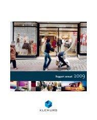 Rapport annuel 2009 - Klemurs