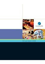 Klemurs 2008 Annual report