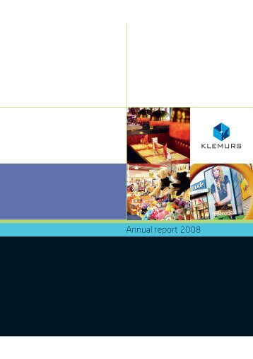 Klemurs 2008 Annual report