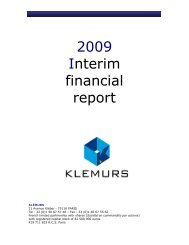 Copie de Klemurs_rapport_financier_semestriel_2009_fr