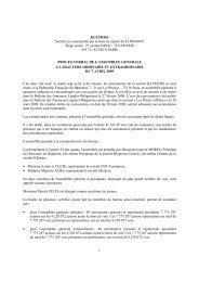 KLEMURS Société en commandite par actions au capital de 82.500 ...