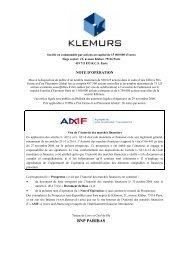 BNP PARIBAS - Klemurs