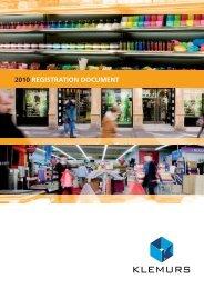 2010 REGISTRATION DOCUMENT - Klemurs