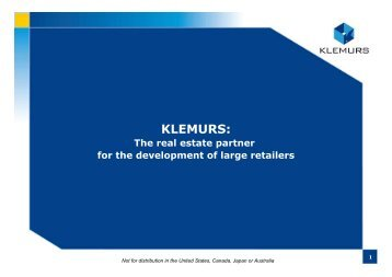 The retail real estate market - Klemurs