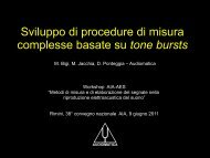 Sviluppo di procedure di misura complesse basate su ... - Audiomatica