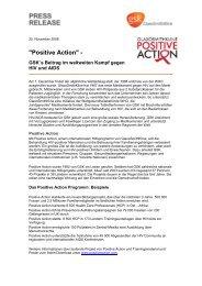 Positive Action - GlaxoSmithKline Pharma GmbH