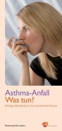 Asthmaanfall - Was tun?