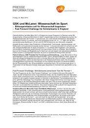 GSK und McLaren: Wissenschaft im Sport - GlaxoSmithKline ...