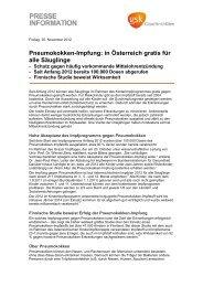 Pneumokokken-Impfung: in Österreich gratis für alle Säuglinge (PDF)