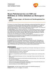 Neues Patientenservice (PDF) - GlaxoSmithKline Pharma GmbH