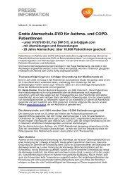 Gratis Atemschule-DVD für Asthma- und COPD-PatientInnen (PDF)