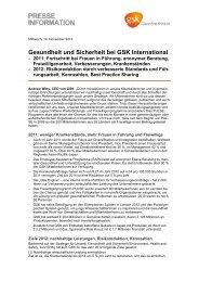 Gesundheit und Sicherheit bei GSK International - GlaxoSmithKline ...