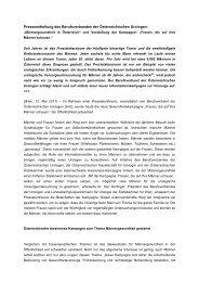 Pressemitteilung des Berufsverbandes der Österreichischen Urologen