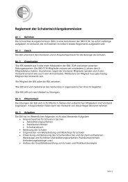 Reglement der Schulentwicklungskommission - SBO-TCM