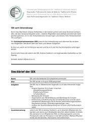Steckbrief der SEK - SBO-TCM