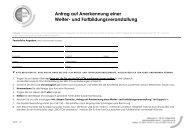 Antrag auf Anerkennung einer Weiter- und ... - SBO-TCM