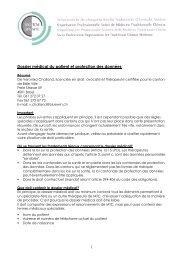 Dossier médical du patient et protection des données - SBO-TCM