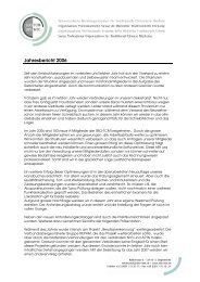 Jahresbericht 2006 - SBO-TCM