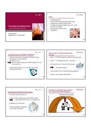 Komplementärberichte - SBO-TCM