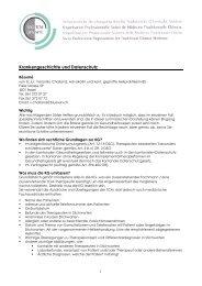 Krankengeschichte und Datenschutz - SBO-TCM