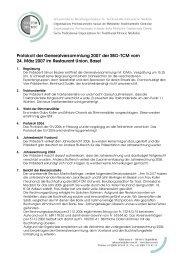 Protokoll der Generalversammlung 2007 der SBO-TCM vom 24 ...