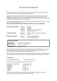 wichtigehinweise - Sprachenzentrum der HU Berlin - Humboldt ...