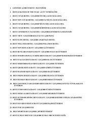 A kategóriák teljes listáját itt tekintheti meg. - Best of Budapest