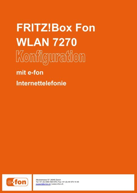 FRITZ!Box Fon WLAN 7270 - E-Fon