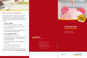 Flyer regioBEST - SpreeGas