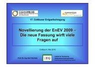 Oschatz_Vortrag EnEV 2009 - SpreeGas